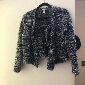 H&M eyelash sweater blazer